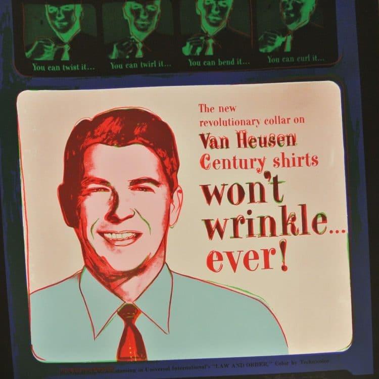 Van Heusen Ad Portfolio (Ronald Regan) By Andy Warhol