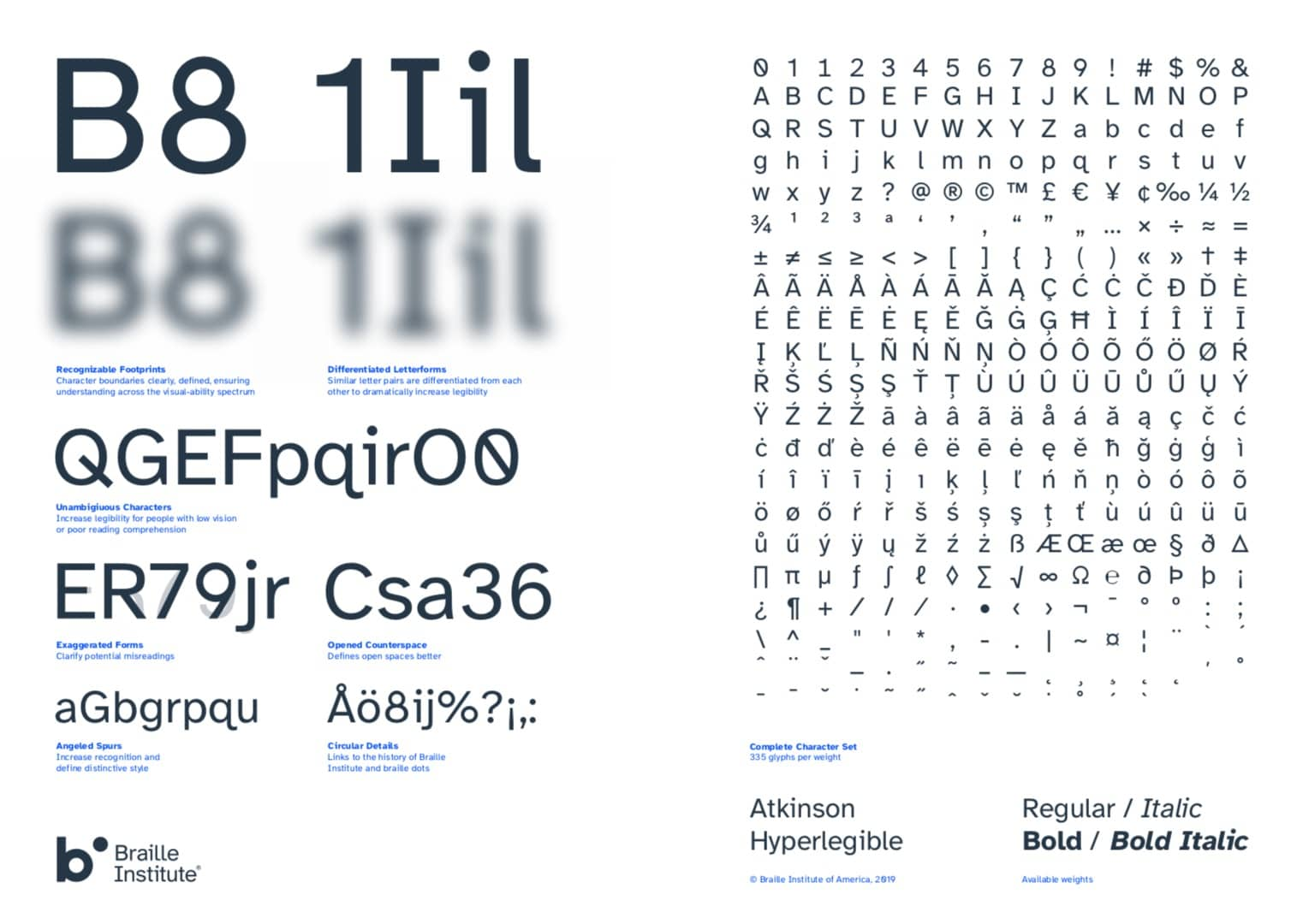 Atkinson Hyperlegible Typeface Free Download