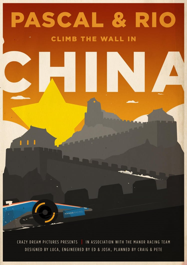 China GP - F1 Manor Racing Team 2016 Race Season Poster