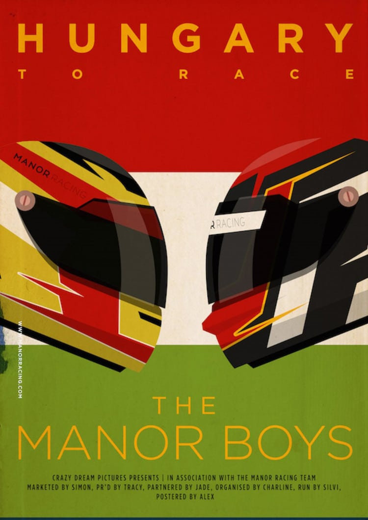Hungarian GP - F1 Manor Racing Team 2016 Race Season Poster