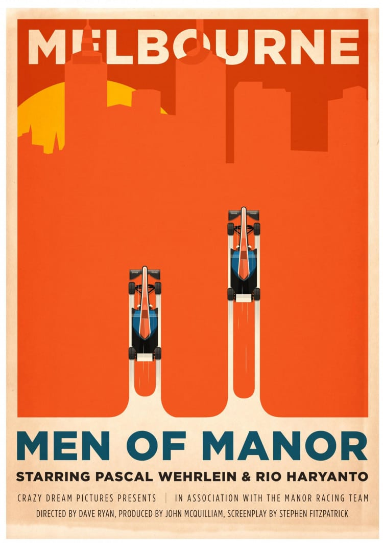 Melbourne GP - F1 Manor Racing Team 2016 Race Season Poster