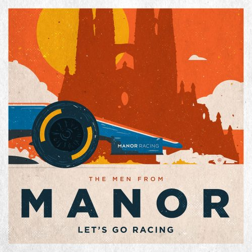 F1 Manor Racing Team 2016 Race Season Posters Square Format The Men from Manor Lets go Racing GP