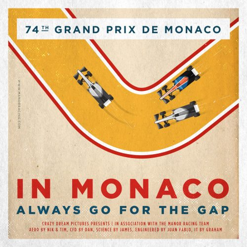 F1 Manor Racing Team 2016 Race Season Posters Square Format Monaco GP
