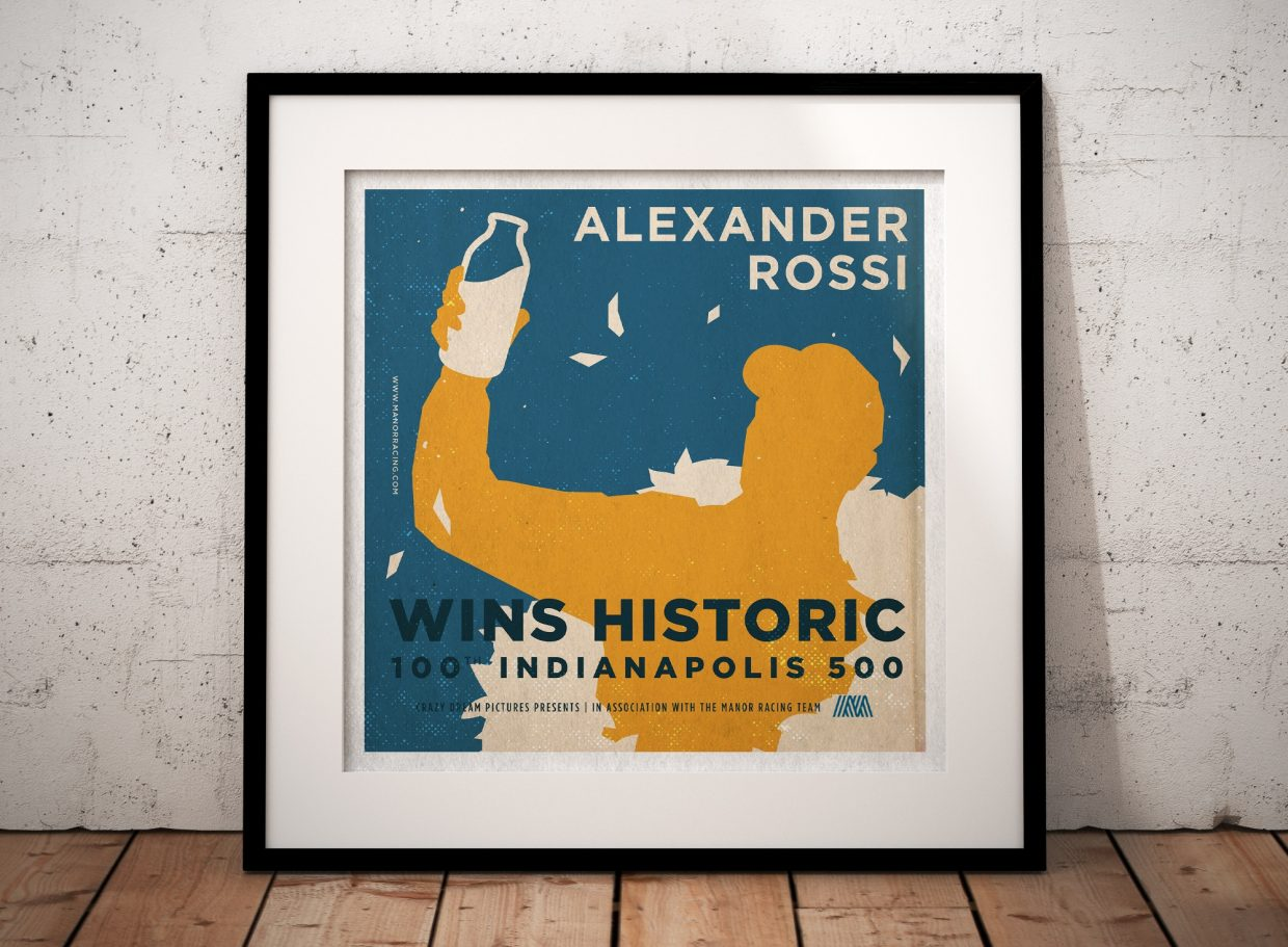 Bonus Poster: Alexander Rossi wins Historic 100th Indianapolis 500