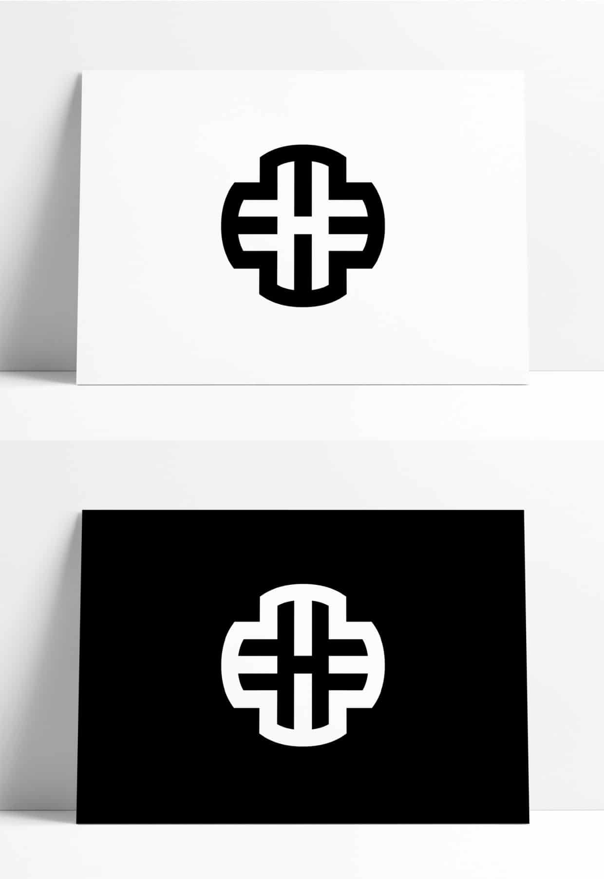 Initials Letters M H Logo Design for Sale Designed by The Logo Smith