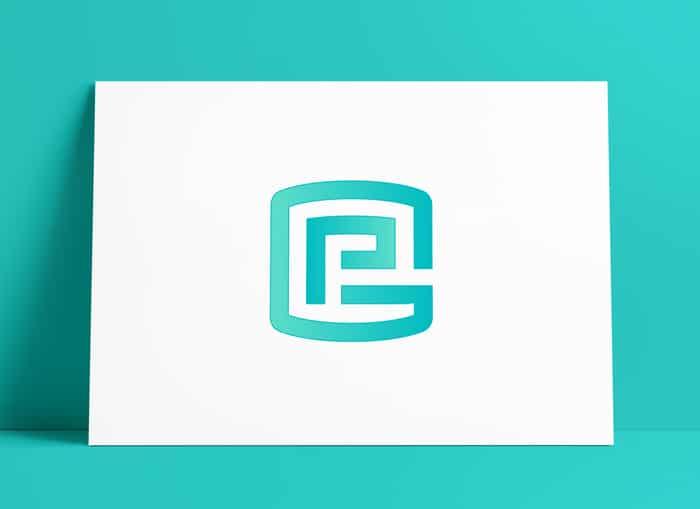 Letter G P Logo
