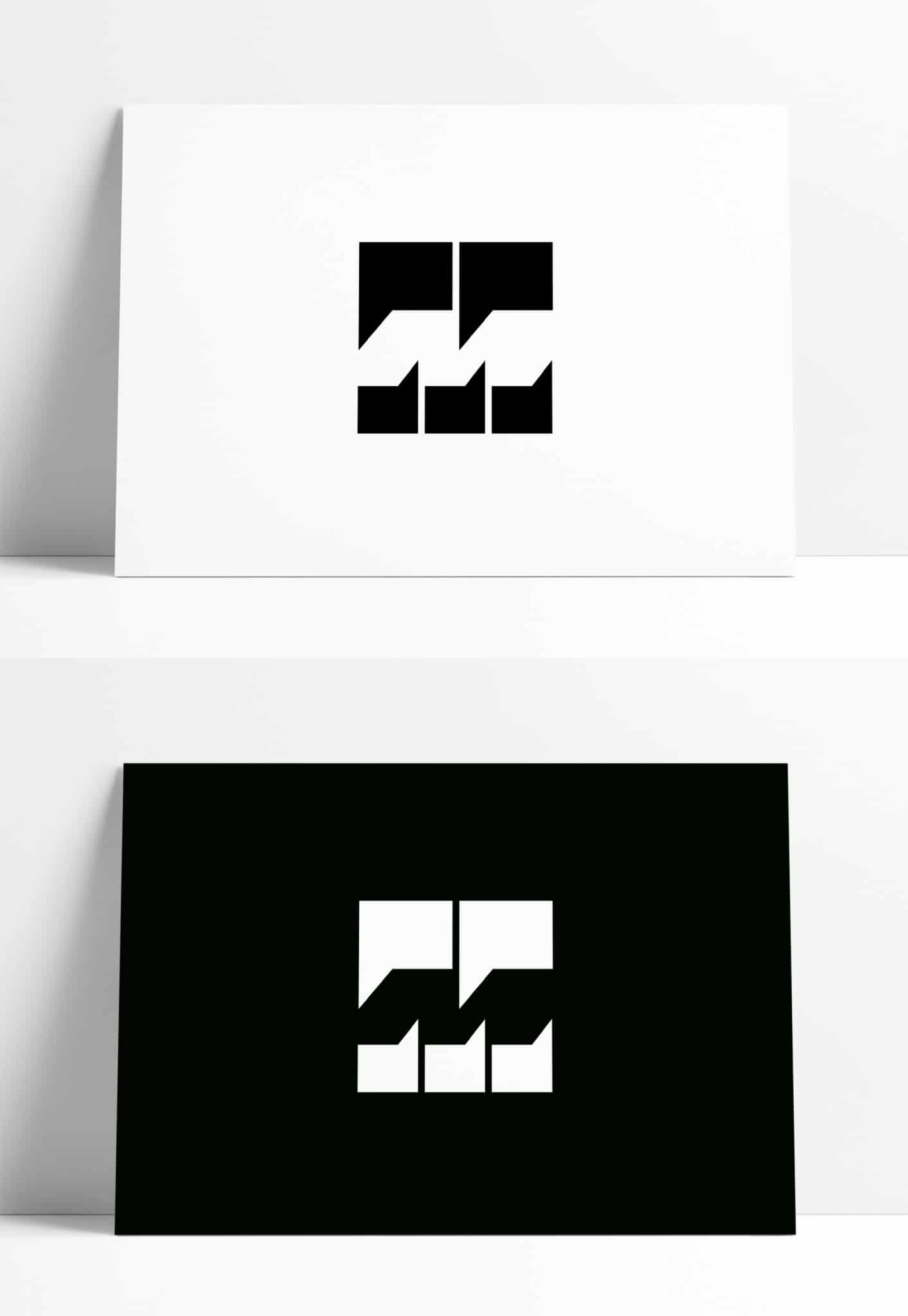 Negative Space Letter M Logo for Sale Designed by The Logo Smith