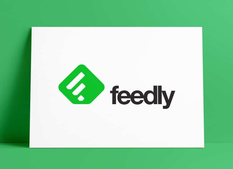 Feedly Logo App Icon MockUp Poster Designed by The Logo Smith