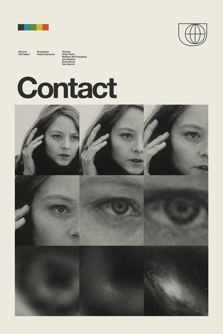 Contact Retro Modern Movie Poster designed by Patrick Concepcion