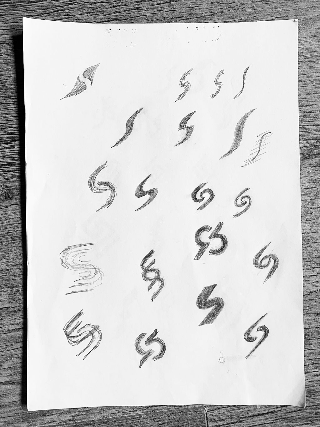 Logo Design Sketches for Initial S Letter S SuperblyCo
