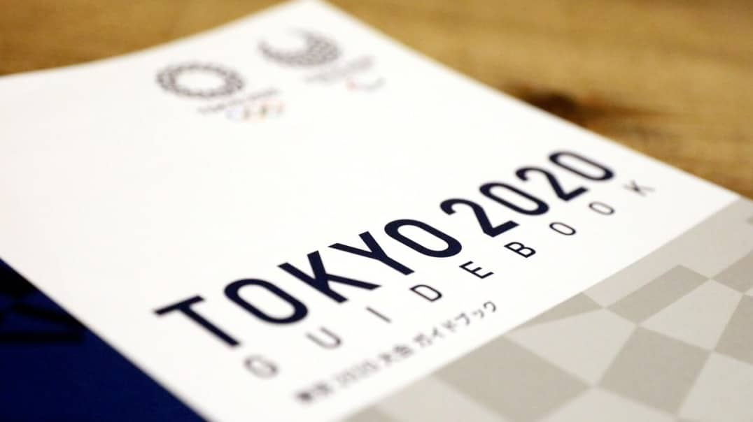 The official font for the Tokyo 2020 Olympic Games used on the official guidebook.