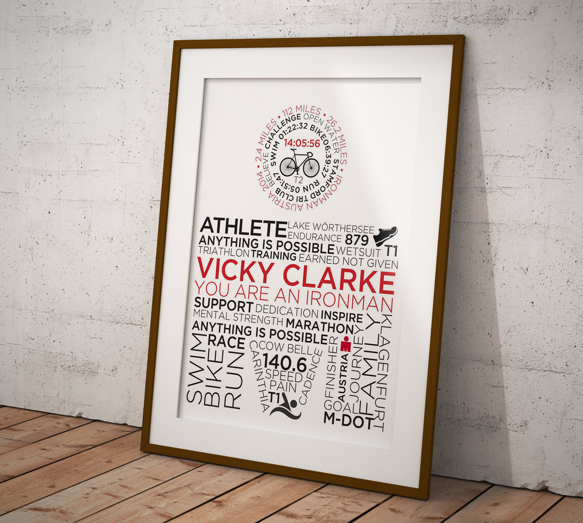 Buy Your Own Personalised & Customised Typographic Outlaw or IronMan Poster - IronMan Logo Poster Style 3