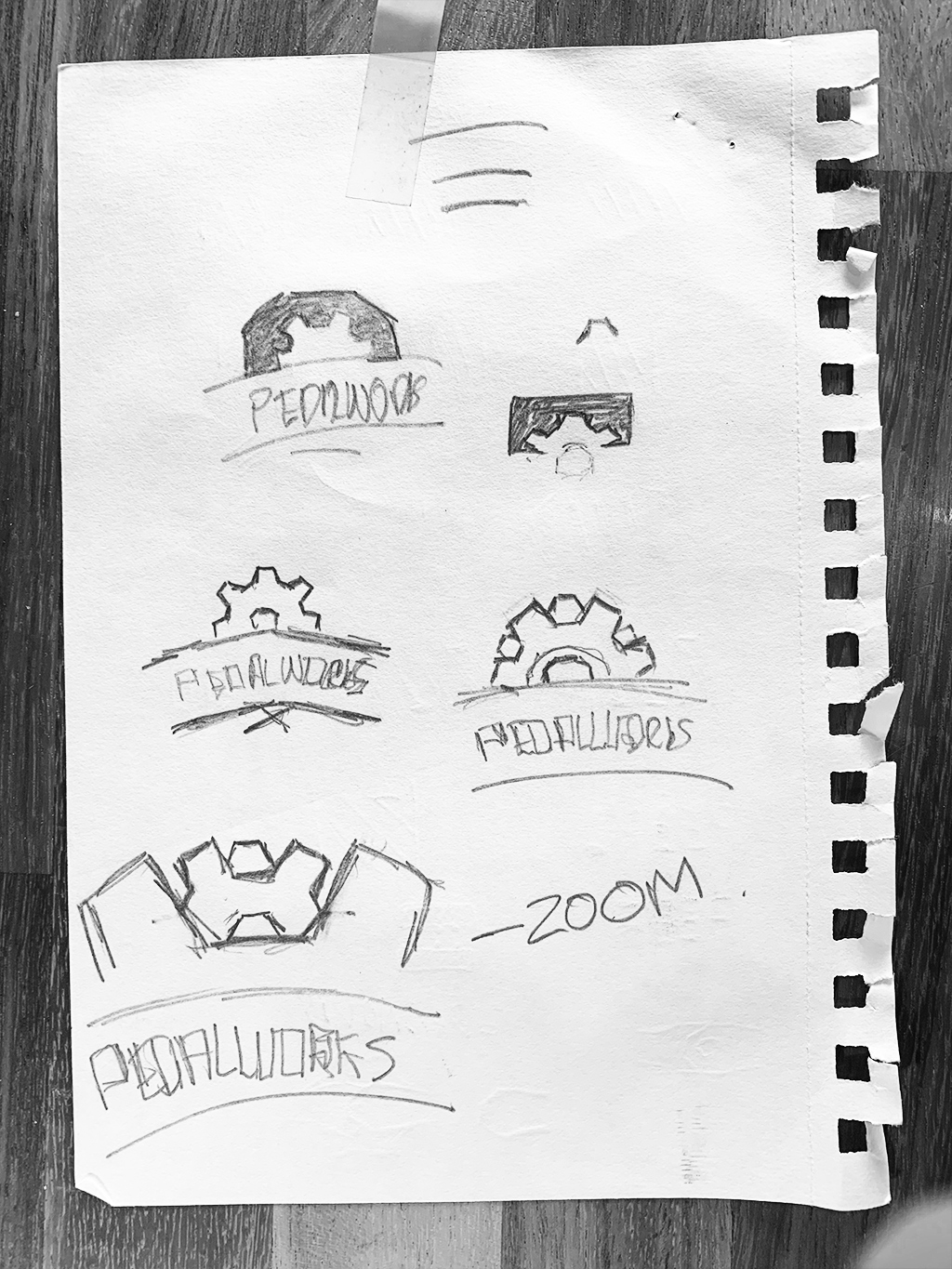 PedalWorks Bike Shop Logo Sketches by The Logo Smith
