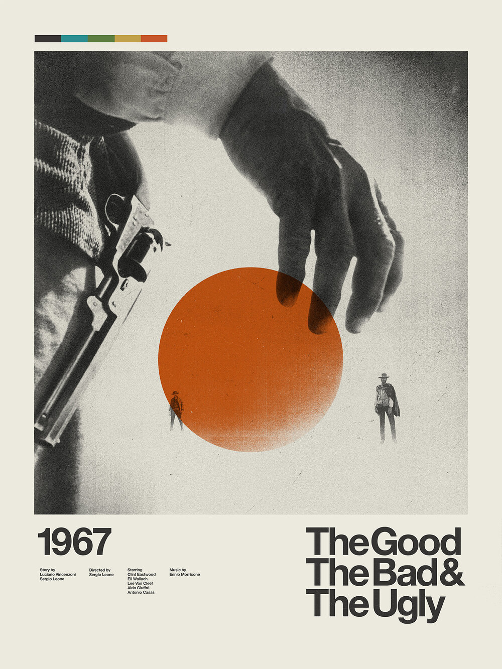 The Good The Bad and The Ugly Retro Modern Movie Poster designed by Patrick Concepcion