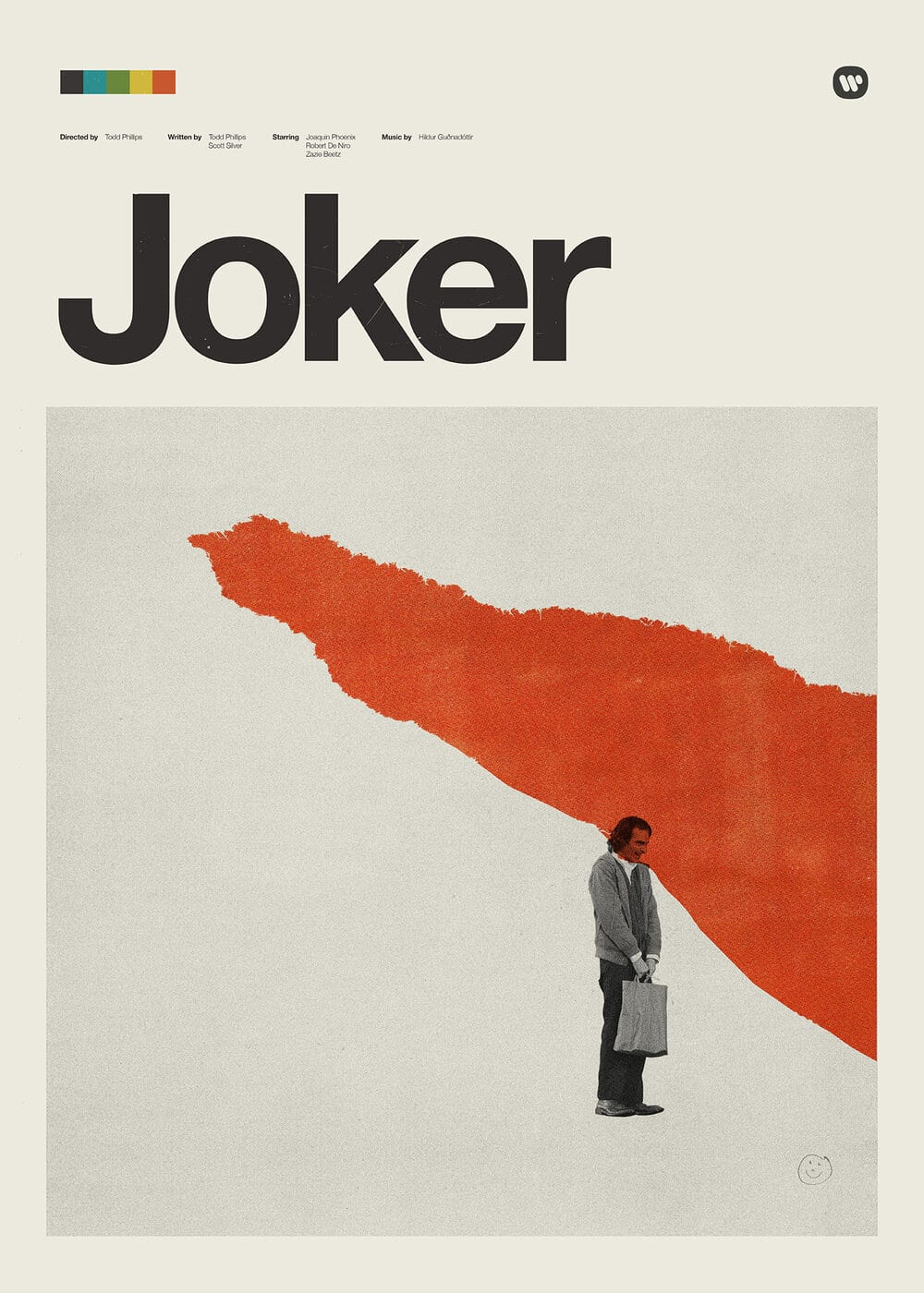 The Joker Retro Modern Movie Poster designed by Patrick Concepcion