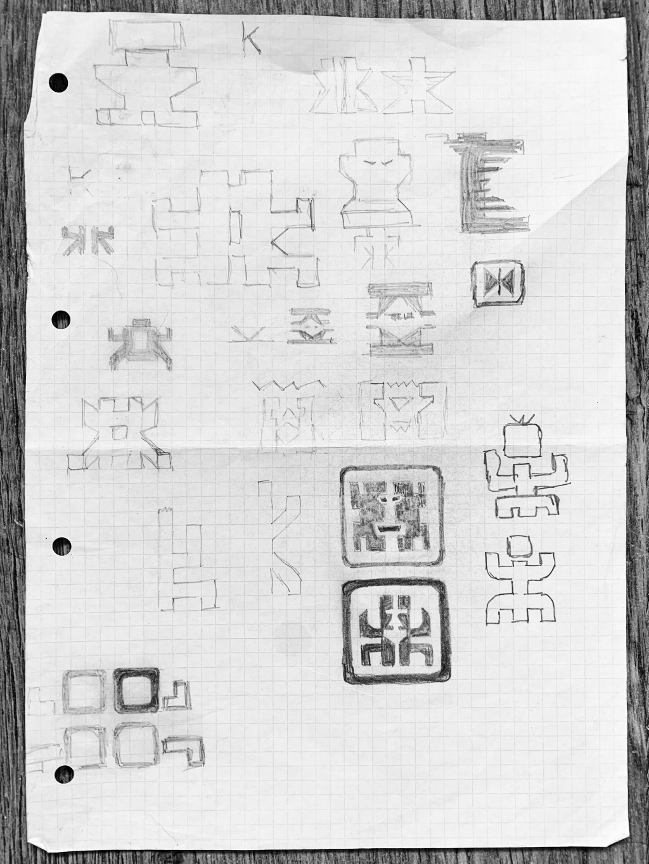 Sketches for Keyboard Kahuna Logo Design – The Sketchbook Secrets Series