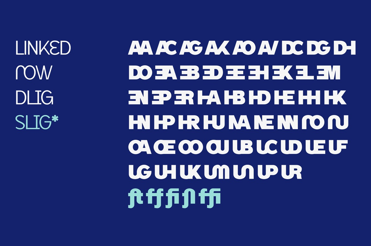 Linked Now Typeface - Download Free Extra Bold Font