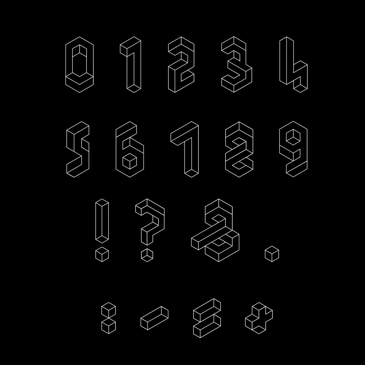 Impossible Type Concept Font Inspired by MC Escher by Fleta Selmani