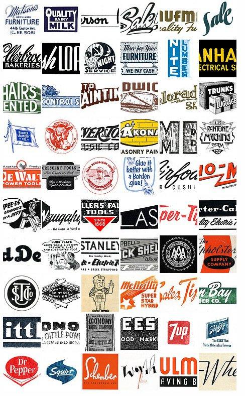 Retro Catalogue & Machinery Logos
