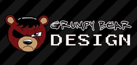 grumpy bear design logo design