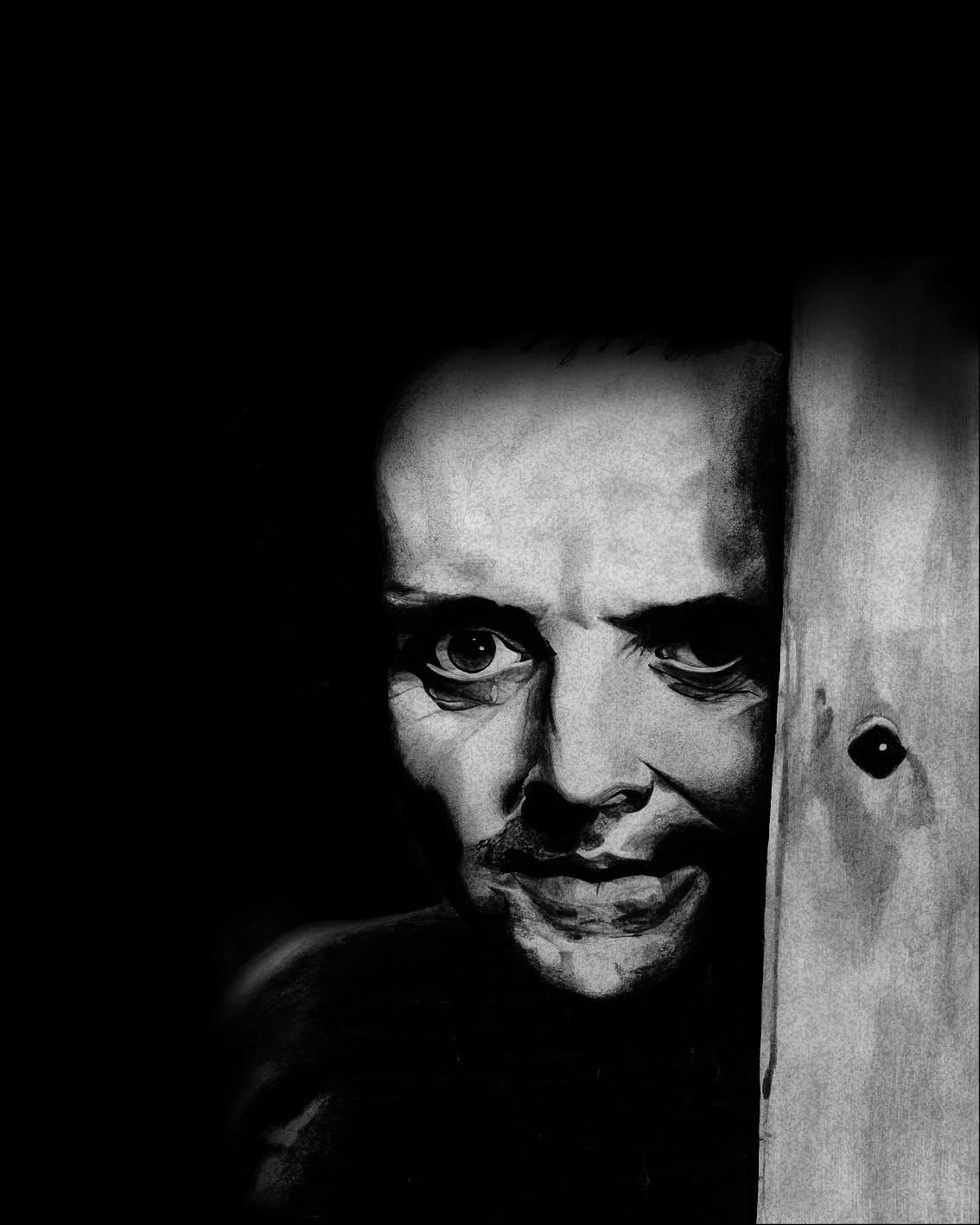 From my Illustration Portfolio - Hannibal Lecter Portrait