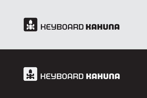 Logo Process - Keyboard Kahuna Logo Design Development