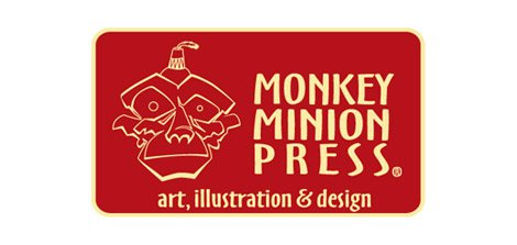 monkey minion press logo design