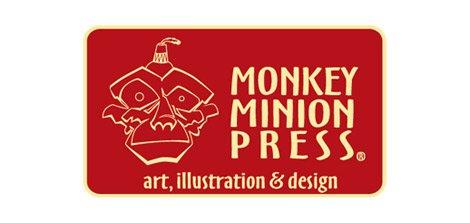 monkey minion press logo design